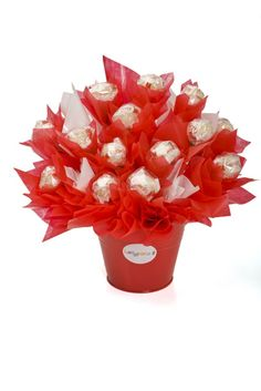 "This white chocolate bouquet is the perfect gift for that special someone in your life, a special gift for him or for her. The perfect gift to say ""Thank you!"", ""Congratulations!"", ""I love you""…. Presented in a red tin with red and white cellophane.... FULL ARTICLE @ http://www.lollypotz.com.au/shop/item/raffaello-in-red"