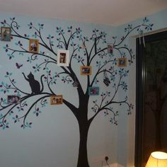 Family tree mural idea.
