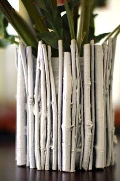Painted Twig Vases (she: Trish) - Or so she says...