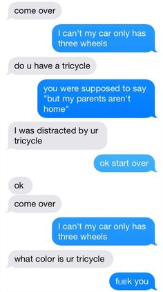 funny text message honestly tricycle