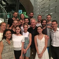 Alan Rickman with the dancers of Sydney Dance Company #sydney film festival #12 march 2015