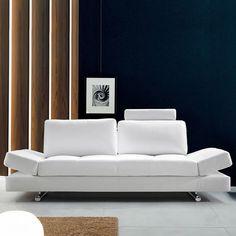 all-white leather sofa
