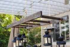 Rustic Ladder Pot Rack Repurposed Pot Rack by EdnaFayeCreations, $90.00
