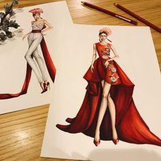 #sketching #draw #dress #drawing #red #fashion #fashionsketch #fashionsketching #fashionillustrator #fashionillustration #fashiondrawing #fashionart #art #artwork #instaart #illustration #illustrator #eristran