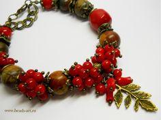 Браслеты Ирины Жильцовой. Модные браслеты из камня яшмы и коралла