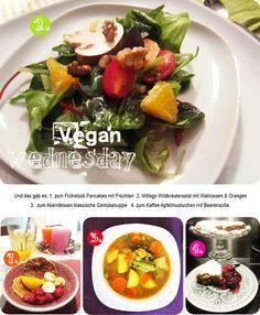 Ein schönes Mosaik aus Billas (kulinarischer) Welt: (keine chronologische Reihenfolge) Wildkräutersalat, Pancakes, Gemüsesuppe und Apfelmuskuchen!