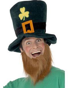 Adult Leprechaun Hat And Beard. Stag Fancy DressIrish LeprechaunLeprechaun  HatsSt Patrick s Day ... b321229f0