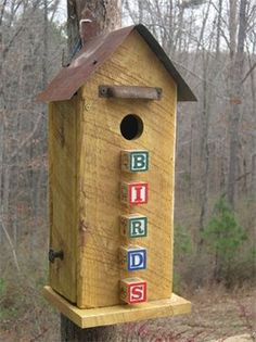 Baby Blocks to add character to your birdhouse!