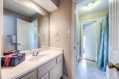 Full 2nd. Hollywood Bathroom up, with separate toilet and shower room. Classy flush mounted lighting, full length mirrors. Each bedroom has its own luxury wash basin sink, and oversize closet close by, with full doors, lots shelves and own lighting.