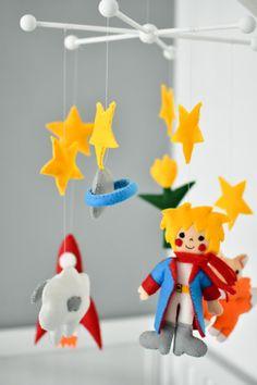 Little Prince Felt Baby Mobile by BabyMobileStories on Etsy