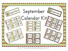 Choice of September / Pirate Themed Calendar Kits: This kit includes choice of September headers, numbers, special days, and years.