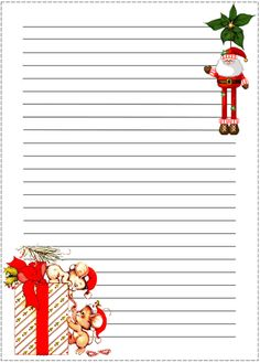 Coisas para o Natal Christmas Paper, Christmas Deco, Xmas, Vintage Christmas, Christmas Letterhead, Christmas Stationery, Printable Lined Paper, Boarder Designs, Cute Journals