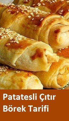 Pastry Recipes, Pie Recipes, Dinner Recipes, Cooking Recipes, Potato Pie, Potato Recipes, Pizza Pastry, Turkish Recipes, Ethnic Recipes