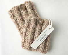 Hand Knitted Leg warmers Boot Cuffs Boot Toppers por VANAGScreative