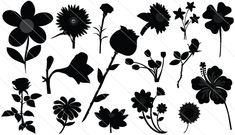Flower Silhouette Vector (16)