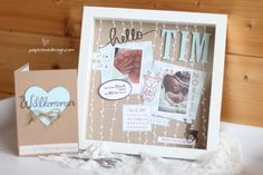 Diy Shadow Box, Baby Frame, Ikea, Diy Box, Baby Birthday, Kids And Parenting, Vintage Looks, Decoration, Picture Frames