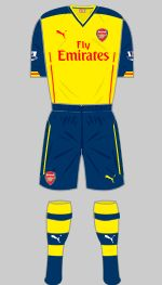 Arsenal - Away Strip. 2014/15