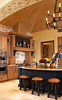 Pictures of kitchens with dark shaker cabinets for Rooster kitchen ideas