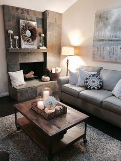 Living room with a touch of fall