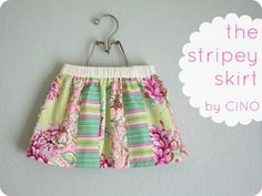 easy and quick skirt for little girls    Simple Simon & Company: Skirting the Issue