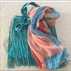 Spotted while shopping on Poshmark: HP Style Obsession Aqua Fringe Handbag! #poshmark #fashion #shopping #style #Cycle Boutique #Handbags