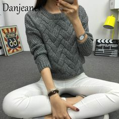 Shop & Buy Danjeaner Vintage Women Sweater New Fashion O-neck Pullover Winter Knit Basic Tops Loose Female Knitwear Outerwear Coats Online from Aalamey New Fashion, Womens Fashion, Fashion 2016, Hipster Fashion, Fashion Black, Fashion Fall, High Fashion, Loose Sweater, Basic Tops