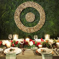 A holiday table at a Target event styled by Emily Henderson