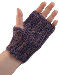 Free Knitting Pattern - Fingerless Gloves & Mitts: Lacis Women's Gauntlets