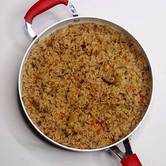 Nigerian Coconut Rice is one of my favourite rice recipes. When I was a little girl, my mom would cook coconut fried rice during special events and Rice Dishes, Food Dishes, Jollof Reis, Nigerian Fried Rice, Coconut Fried Rice, Nigeria Food, Ghana Food, Best Rice Recipe, West African Food
