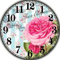 Shop for New Arrivals Diamond Painting Kits at Pretty Neat Creative with ✅ Softest canvas, Sparkliest beads ✅ Most durable package ✅ WARRANTY. Rose Clock, Clock Flower, Decoupage Vintage, Vintage Paper Dolls, Taxi 3, Clock Face Printable, Shabby Chic Clock, Clock Craft, Handmade Clocks