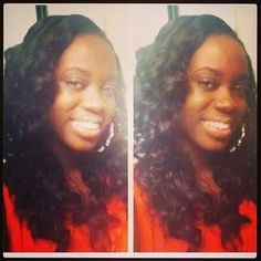 Cherrelle looks lovely rockin our Indian Remy, curls are popping!!! #summertimefine
