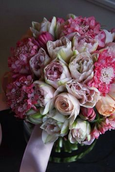 Pink color bouquet