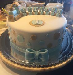 Birthday baby fondant cake
