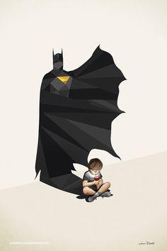 Children's Superheroes Shadows Posters