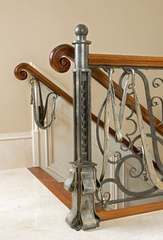 Railings by Maynard Studios traditional-staircase Wrought Iron Beds, Wrought Iron Decor, Metal Worx, Traditional Staircase, Steel Art, Forged Steel, Iron Work, Metal Projects, Railings
