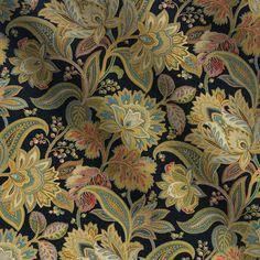 Black Fabric for Interior Decorating and Design Accents Gold Fabric, Floral Fabric, Fabric Art, Fabric Decor, Plaid Fabric, Black Background Pattern, Art Chinois, Batik Art, Batik Prints