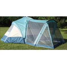 8 Person Dome Tent with Screen Room Enclosure Gazebo Entrance Eight Man C&ing Tent (Tent  sc 1 st  Pinterest & Coleman® Evanston™ Screened 8 Tent | Tent and Ps
