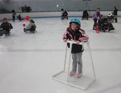 PHYSICAL ACTIVITIES Winter is wimping out on us so far this season. Thank goodness we can always resort to ice skating indoors! Ice skating provides an amazi. Adaptive Sports, Adaptive Equipment, Pe Equipment, Physical Activities, Physical Education, Adapted Pe, Disability Awareness, Making Life Easier, Assistive Technology