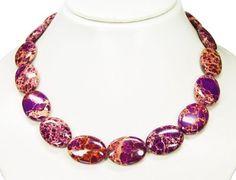 * Stunning Sea Sediment Jasper * Wonderful necklace , various shades of purple coloured* Very beautiful gemstones * Top * Lovely chain * Amazing semiprecious stones * New *: Amazon.co.uk: Jewellery