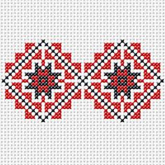 red and blue squares Cross Stitch Bookmarks, Cross Stitch Art, Cross Stitch Designs, Cross Stitching, Cross Stitch Patterns, Beaded Embroidery, Cross Stitch Embroidery, Embroidery Patterns, Hand Embroidery