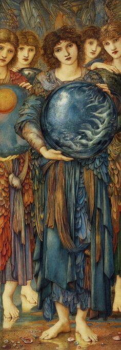 Edward Burne-Jones: The Days of Creation- The Fifth Day -Watercolor, gouche, gold and p 1875-1876