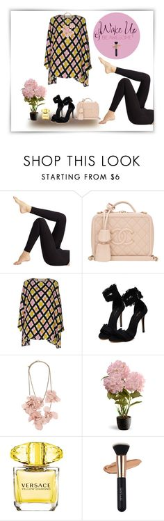 """Untitled #1422"" by ellyandeddy-mendo ❤ liked on Polyvore featuring Wolford, Chanel, Marni, WALL, Lanvin, National Tree Company and Versace"