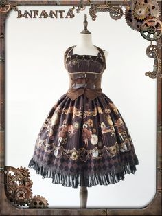 Infanta -Antique Mechanical Doll- Steampunk Lolita Jumper Dress