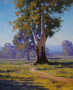 Majestic Gum Australia by artsaus on DeviantArt Watercolor Landscape, Landscape Art, Landscape Paintings, Watercolor Paintings, Impressionist Landscape, Oil Paintings, Traditional Landscape, Contemporary Landscape, Paintings I Love