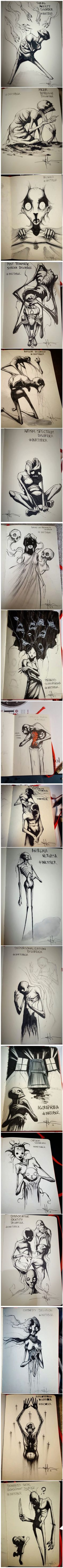 Artist Shawn Coss Illustrates Mental Illness And Disorders