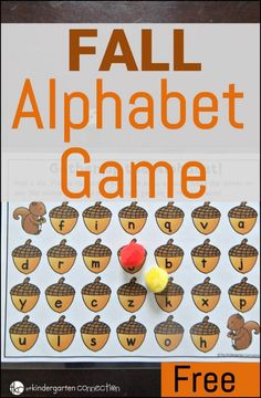 FREE Fall Alphabet Game for kindergarteners. A fun activity that lets students practice upper and lower case letter recognition and letter sounds. Perfect activity for a fall themed unit or a literacy center. Alphabet Games For Kindergarten, Kindergarten Centers, Letter Activities, Kindergarten Reading, Turkey Kindergarten, Preschool Alphabet, Kindergarten Classroom, Literacy Centers, Fall Preschool