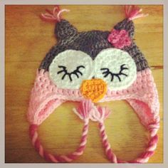 Girls sleepy owl hat.