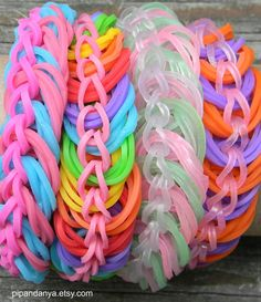 Rainbow Loom Anklet Triple Link Anklet Rubber Band by PipandAnya, $12.00 Loom Band Bracelets, Loom Bands, Rainbow Loom, Rubber Bands, Anklet, Fun Crafts, Kid Stuff, Projects To Try, Group