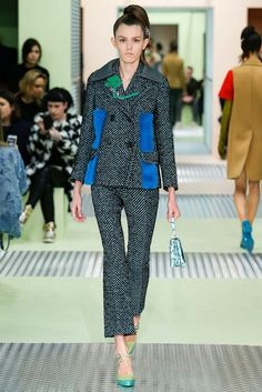 Pea coat sewing inspiration: Prada Fall 2015 Ready-to-Wear Collection Photos - Vogue