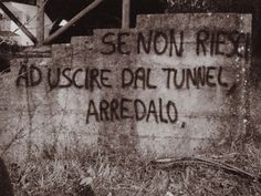 Se non riesci ad uscire dal tunnel, arredalo. Humour Intelligent, Narrative Story, Daily Mood, Wonderwall, Wall Quotes, Funny Images, Cool Words, Sentences, Like Me